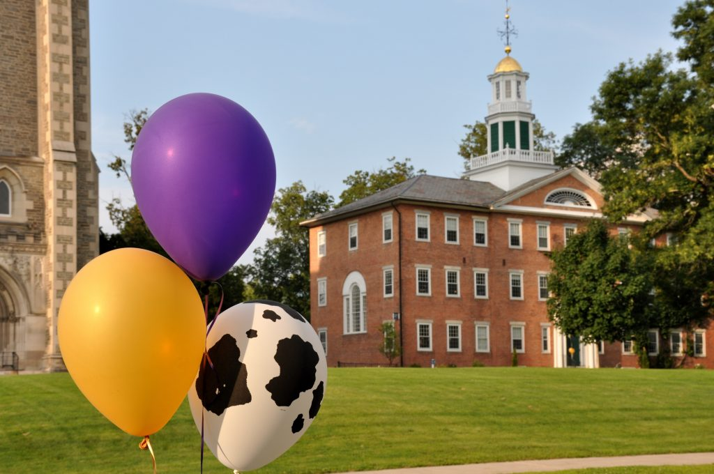 Photo of balloons and building