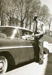 Officer Pete Gelheiser Writing a Ticket in 1961