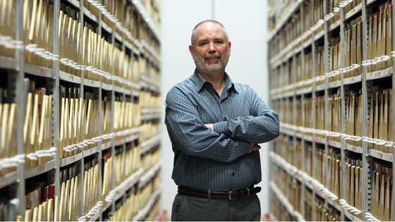 Dave Chalifoux in the Library Shelving Facility