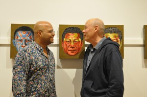 Miguel Payano and Professor of Art Mike Glier