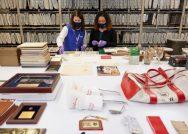 Hilary Cronheim, Rosemary Maravetz are seen as they work to catalog artifacts at the United States Golf Association in Liberty Corner, N.J. (Copyright USGA/Jonathan Kolbe)