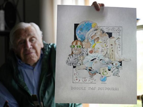 Image for Robert Seaman '54: 88-year-old artist finishes year of pandemic 'daily doodles'