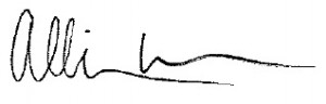Allison Wu Signature