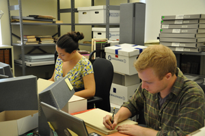 Students catalog the Breman Collection