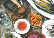 Photo of Russian food from the cover of Darra's book