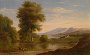 oil on canvas by Robert Selden Duncanson, a member of the Hudson River School.