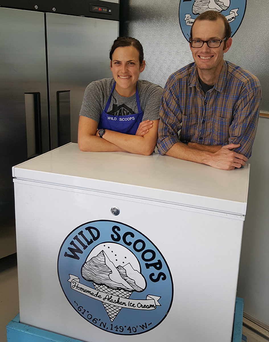 Elissa Brown, Class of 2009, owner of Wild Scoops Ice Cream in Anchorage, Alaska