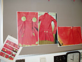 Photographs of the red broadcloth jacket