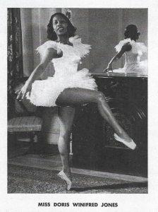 A photo of dancer Doris Jones from the Doris W. Jones School of Dancing program 1948.