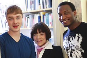 Tucker Bair, Prof. Jang, Emmanuel Whyte