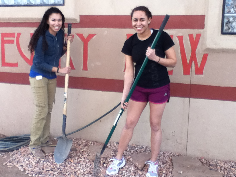 Nine Williams students helped out on a Navajo reservation during spring break.