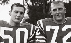 From left: Williams football co-captains Mike Reily and Ben Wagner, both Class of 1964.