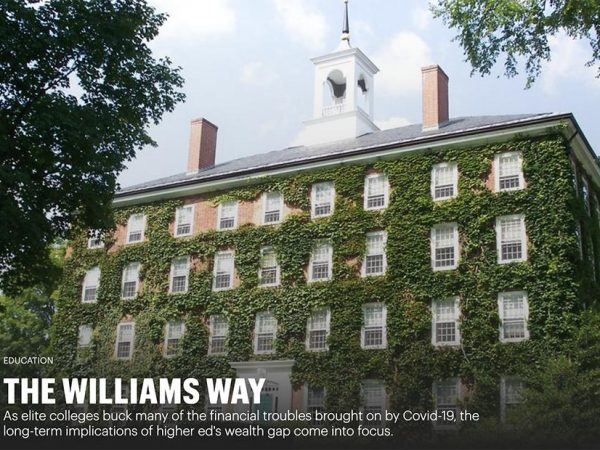 Image for The Williams way: Why elite schools are ducking higher ed's headwinds