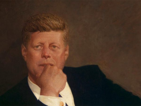 Image for Ethan Lasser '99: An Iconic JFK Portrait — On Loan From The MFA — Now Hangs Inside Biden's White House