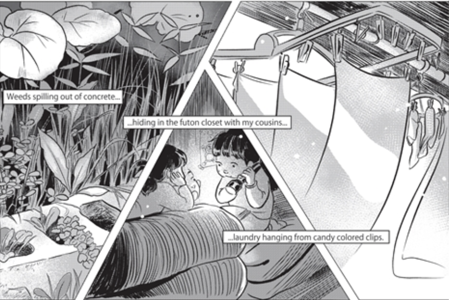 Part of a page from the graphic novel Himawari House, due out in October 2021