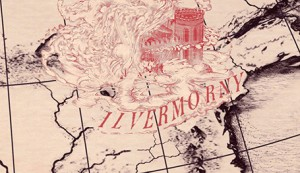 Small Horizontal Ilvermorny Map