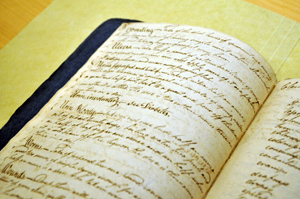 Medical document from special collections