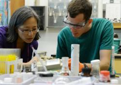 Summer Science Research with Prof. Lee Park (left)