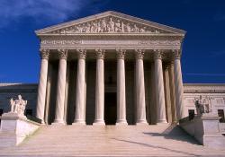Photograph of exterior of U.S. Supreme Court by Jeff Kubina