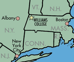 Map showing Massachusetts and neighboring states