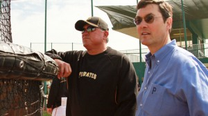 Pittsburgh Pirates Manager Clint Hurdle (at left) and owner Robert Nutting '84