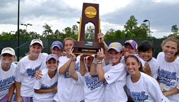 women's tennis wins 5th consecutive national title