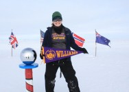 Nurse practitioner Jaime Hensel from the Class of 2005 at the South Pole.