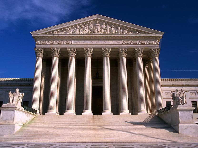 Photograph of exterior of U.S. Supreme Court by Jeff Kubina