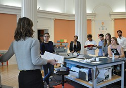 Publication Studio in WCMA's historic rotunda
